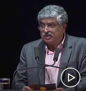 Nandan Nilekani announces the winner of the Infosys Prize 2019 in Life Sciences